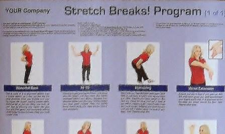 cropped stretch breaks poster compress